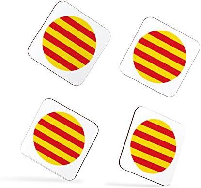 Compra Catalunya Catalan Flag Bandera Català Spanish Española Catalán Posavasos en Amazon.es
