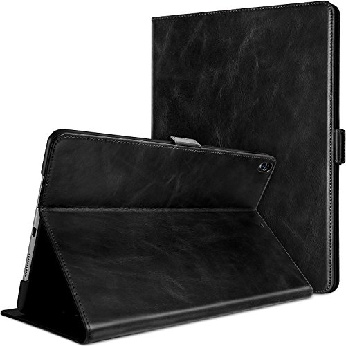 - ProCase iPad Air (3rd Gen) 10.5 2019 / iPad Pro 10.5 2017 Case, Vintage Genuine Leather Case Slim Fit Stand Folio Cover, with Multiple Viewing Angles, Auto Sleep/Wake Feature -Black