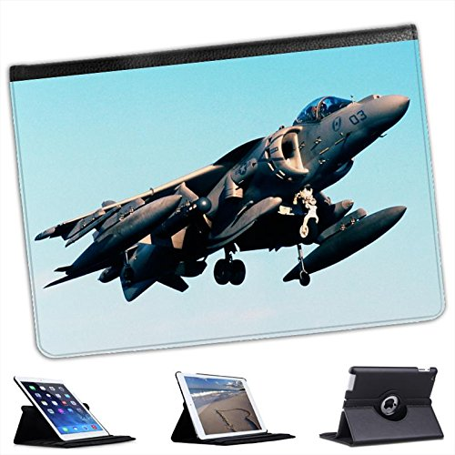 AV-8B Harrier US Navy Plane For Apple iPad Air 2 [2014 Version] Faux Leather Folio Presenter Case Cover Bag with Stand (Harrier Leather)