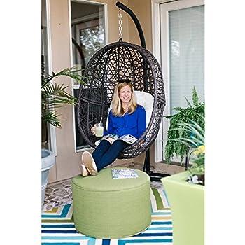 Amazon Com Resin Wicker Hanging Egg Chair Outdoor Patio