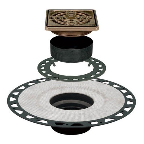 Drain Kit 4 Square Grate - Oil Rubbed Bronze - ABS by Kerdi by Kerdi