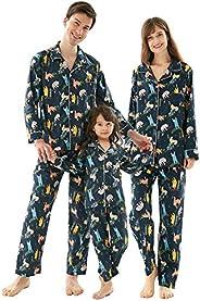 Matching Family Christmas Pajamas Set, 2pcs Holiday Xmas Pjs Couples Pajama Cozy Top and Pants Sleepwear for W