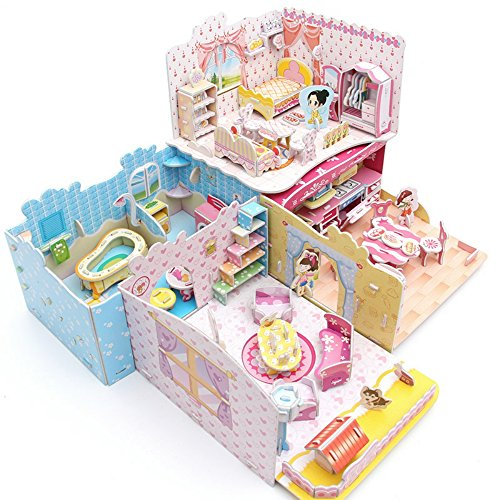 (Pretty Dream House 3D Puzzle Dollhouse, The Best DIY Gift for Children, Toys Game)