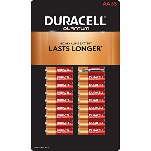 (Duracell Quantum Alkaline AA Batteries - 36 Pack, Packaging May Vary)