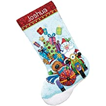 Dimensions Counted Cross Stitch, Santa's Sidecar Stockings