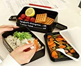 Warm and Beautiful Lunch Box for Kids 5 Layers Today's Menu Lunch Box Microwave Bento Box Japanese Style Bento Lunch Container (Color : Green)