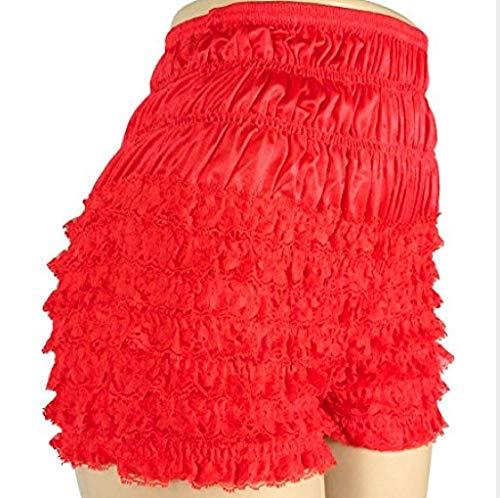 Malco Modes Womens Sexy Ruffle Panties Tanga Dance Bloomers Sissy Booty Shorts (Red, SM)]()