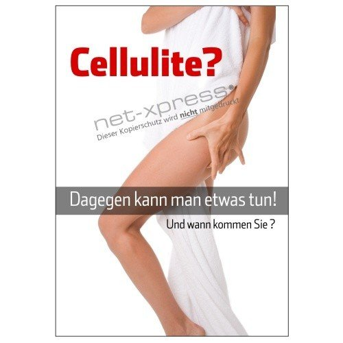 Cartel contra Celulitis Din A1, Cartel de Publicidad Cartel ...