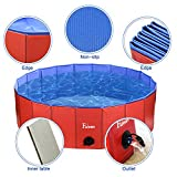 Fuloon PVC Pet Swimming Pool Portable Foldable Pool Dogs Cats Bathing Tub Bathtub Wash Tub Water Pond Pool Pet Pool & Kiddie Pools for Kids in The