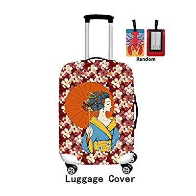 87417c7abe3b free shipping ONE 2 Woman Pattern Design Spandex Luggage Cover Protector