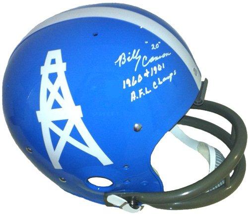 Radtke Sports cannon-tk-oilers Billy Cannon Signed Houston Oilers TK Suspension Helmet AFL Champs