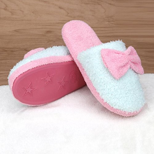 Sunfei Women Soft Warm Indoor Bowknot Cotton Slippers Home Anti-slip Shoes Green 9UP7WwP