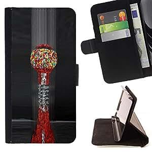 Momo Phone Case / Flip Funda de Cuero Case Cover - Las células de sangre Arte colorido - Samsung Galaxy E5 E500