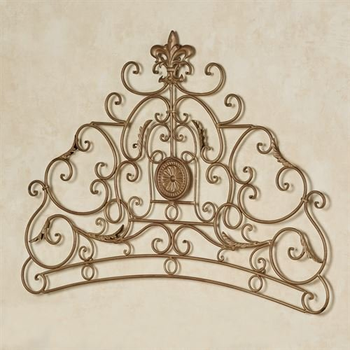 Touch of Class Caterina Wall Grille Satin Gold - Crown Iron Sculpture