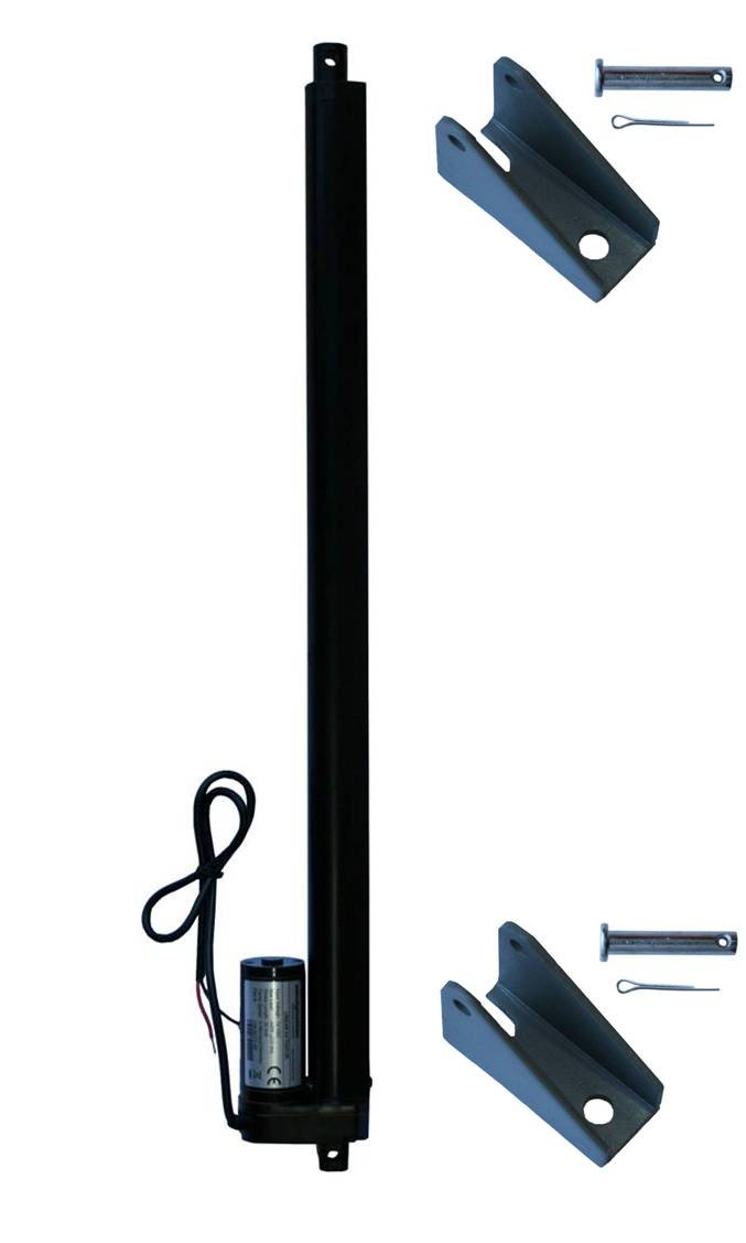 """WINDYNATION 20 Inch 20"""" Stroke Linear Actuator 12 Volt 12V 225 Pounds lbs Maximum Lift (Includes Mounting Brackets)"""