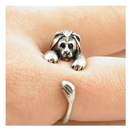 Lion Animal Wrap Ring - Silver for (Lion Jewelry)