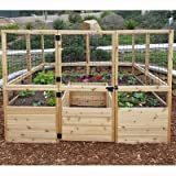 Square Raised Garden with Deer Fence Kit