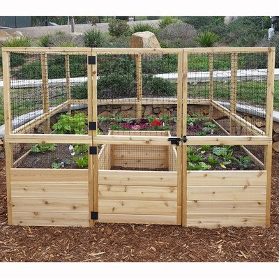 Square Raised Garden with Deer Fence Kit by Outdoor Living Today