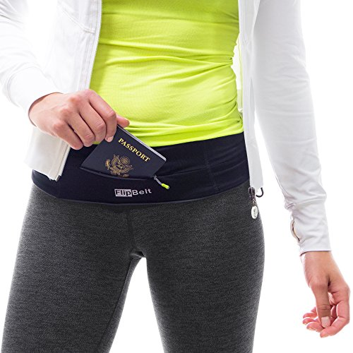 FlipBelt Running & Fitness Workout Belt, Black, Medium by Level Terrain (Image #5)