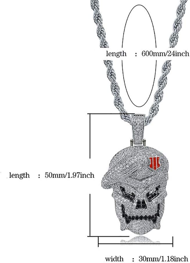 Yao Space Mens and Womens Copper-Inlaid Zircon Necklace Jewelry is Suitable for Celebration Holiday Birthday Party Wedding Gifts