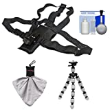 Hiking Essentials Bundle for ContourROAM2, ROAM3 & Contour+ 2 Action Camcorders with Chest Mount + Flex Tripod + Accessory Kit