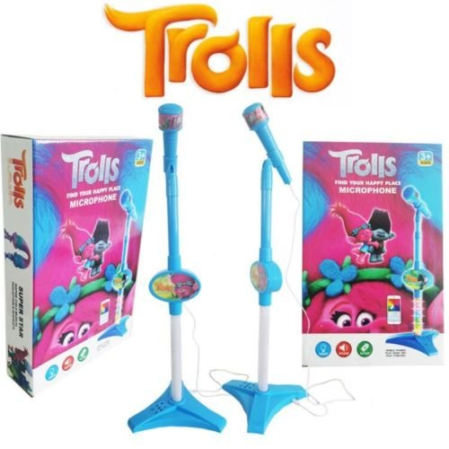 gg NEW DREAMWORKS TROLLS KIDS MUSICAL INSTRUMENT SINGING MIC PHONE MICROPHONE TOY