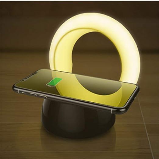 Ziyuwuliu Lámpara de Mesa LED Cargador USB Lámpara de ...