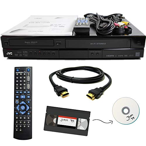 Cheapest Price! JVC VHS to DVD Recorder VCR Combo w/ Remote, HDMI