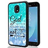 Galaxy J7 2018/Galaxy J7 Refine/Galaxy J7 V 2nd Gen/Galaxy J7 Top/J7 Star/J7 Aero/J7 Crown Glitter Pattern Case, SuperbBeast God is within her, she will not fall TPU Bumper Case