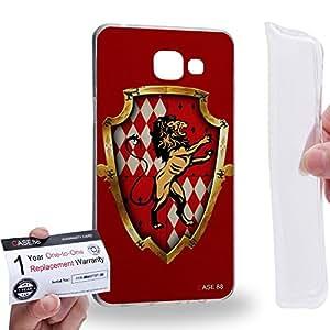 Case88 [Samsung Galaxy A5 (2016)] Gel TPU Carcasa/Funda & Tarjeta de garantía - Harry Potter & Hogwarts Collections Hogwarts Gryffindor Sigil 0553