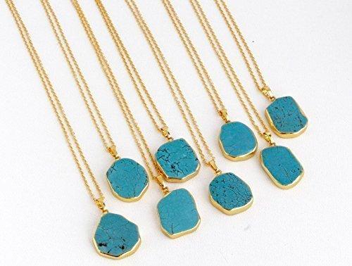 Turquoise Stone Drop - 8