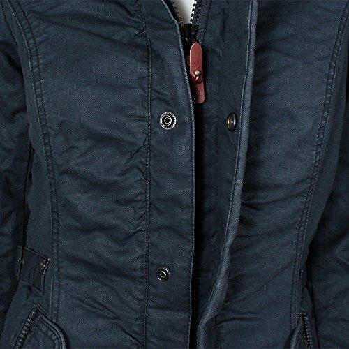 Khujo Celine manteau d'hiver navy