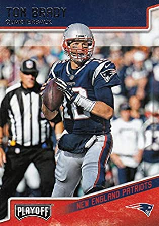 4df84b485 Amazon.com  Football NFL 2018 Panini Playoff  125 Tom Brady  125 NM+ ...