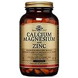 Solgar Calcium Magnesium Plus Zinc Tablets, 250 Count
