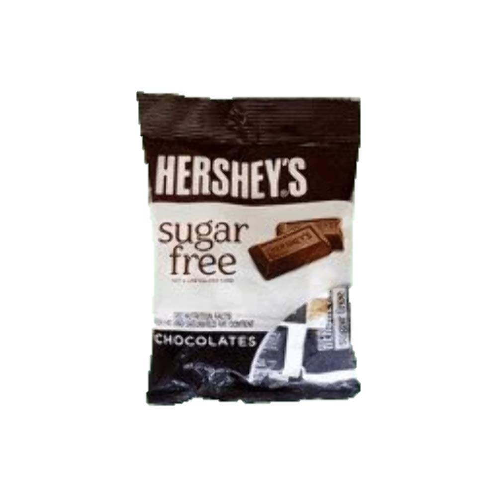 Hershey's Sugar Free Chocolate with Caramel Candy, 3 Ounce Bag, Pack of 3