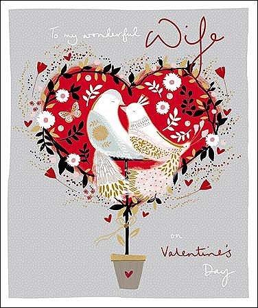 Amazon Com Wonderful Wife Emma Grant Valentine S Greeting Card