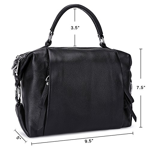 Pockets And Purse Crossbody Black Multi Handbags Leather Women Shoulder Western Zipper Cute With Bags xTw4gZSq