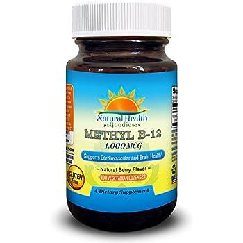 Vitamin B12 Methylcobalamin 1000 mcg Vegan Sublingual Chewable Lozenges from Natural Health Goodies
