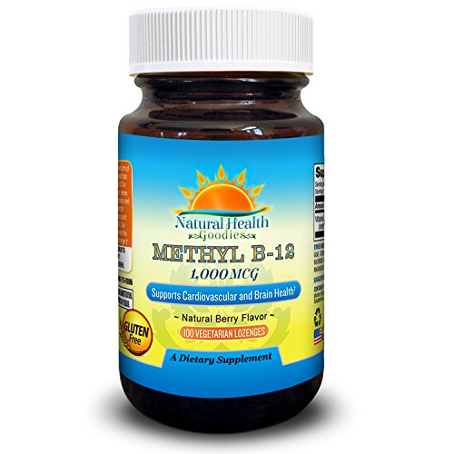 Vitamin B12 Methylcobalamin 1000 mcg Vegan Sublingual Chewable Lozenges from Natural Health Goodies
