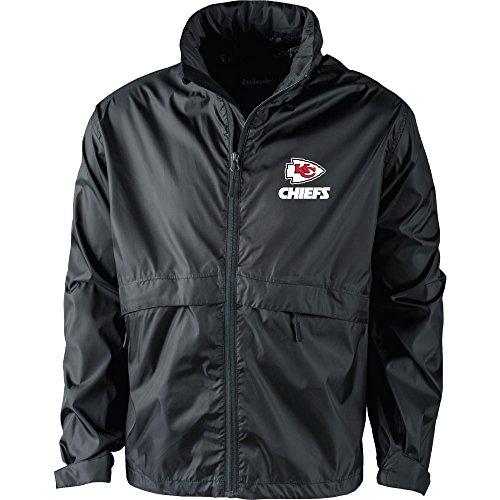 NFL Kansas City Chiefs Men's Sportsman Waterproof Windbreaker Jacket, Black, X-Large