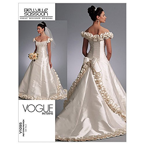 vogue-ladies-sewing-pattern-1095-bridal-wedding-dress