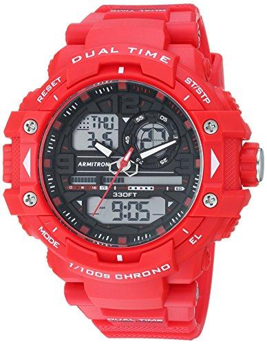 Armitron Sport Men's 20/5062RDB Analog-Digital Chronograph Red Resin Strap Watch