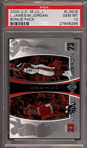2005 U.D. MICHAEL JORDAN/LEBRON JAMES BONUS PACK #LJMJ5 PSA 10 K2495175-296 (Jordan Michael And Lebron James)