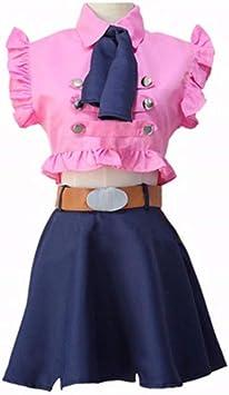 Ensemble 4 pièces Les sept péchés capitaux Elizabeth Liones Cosplay Costume Robe Halloween