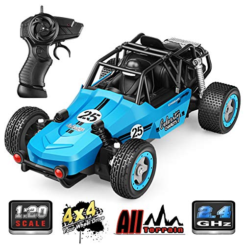 RC Car, 1:20 All Terrain Remote Control High-Speed Offroad 2.4Ghz 2WD Remote Control Monster Truck, Best Gift for Kids and Adults