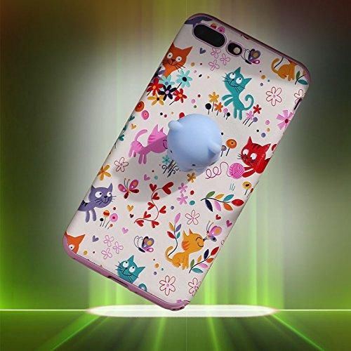 Pinzhi Pinzhi 3D Nizza Weiche Silikon Pappy Squishy Katze für iPhone 7 Plus Case Octopus Telefon Fall Stil