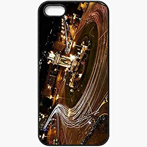 Unique Design Fashion Protective Back Cover For iPhone 5 5S Case Barcelona Night Skyline Cities Black