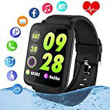 10. Smart Watch,Fitness Tracker Watch with Heart Rate Monitor IP67 Waterproof Bluetooth Smartwatch Sports Activity Tracker with Pedometer Smart Bracelet for Men Women Kids Compatible Android iOS Phones