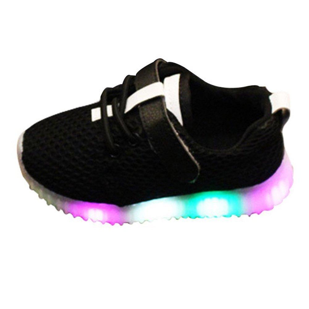 Kootk Kinder Schuhe Kleinkind Glühende Schuhe Jungen Mädchen Sneaker Baby Schuhe Sport Running Leuchtschuhe Kinderschuhe Rosa Schwarz Weiß 21-30 Kootk network technology Co. Ltd