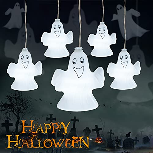 Halloween Light String, Halloween Ghost Light String Decoration, Battery Operated Lights String Wireless Remote Control 30 LED Lights Dust-Proof and Waterproof Design, Halloween Party Decoration.